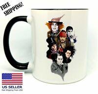 Johnny Depp, Birthday, Christmas Gift, Black Mug 11 oz, Coffee/Tea