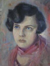 S. Gerefkow - Portrait féminin - 1925 Garçonne Années Folles