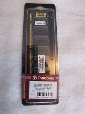NEVER USED!! Transcend PC-3200 1 GB DIMM 400 MHz DDR SDRAM Memory (JM388D643A5L)