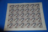 1958 Monaco MNH Sc 412 Pope Pius IX, XII, Virgin Mary, Complete Sheet of 30