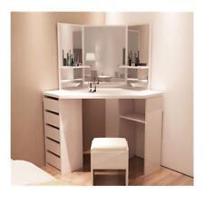Eckschminktisch D1 Weiß Kosmetiktisch Frisiertisch Schminktisch Kommode Tisch