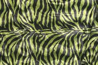 """VELBOA FAUX FUR GREEN ZEBRA ANIMAL PRINT FABRIC SEWING POLY 60"""" SOLD BY THE YARD"""
