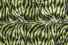 "VELBOA FAUX FUR GREEN ZEBRA ANIMAL PRINT FABRIC SEWING POLY 60"" SOLD BY THE YARD"