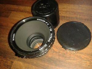 VGC NIKON NIKKOR - P.C 1:2.8  f=75mm No.261045 CAMERA LENS + CAPS