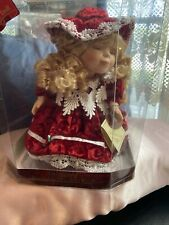 Gift Gallery Animated Wind Up Musical Doll Genuine Fine Bisque Porcelain Sherrie