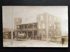 C 1910 Real Photo Postcard Horse Drawn Wagon @ Commercial Hotel RUSSELL, Ontario