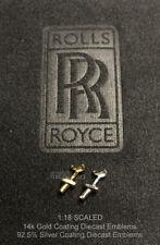 1/18 Rolls Royce 14k Gold 925 Silver Die-cast Emblem Phantom Ghost Wraith Kyosho
