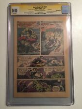 Incredible Hulk #181 CGC NG (3rd Page only) Signed by Stan Lee