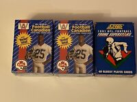 1991 All World AW Canadian Football CFL Boxed Set X2 + 1991 FOOTBALL YOUNG STARS