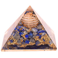 70-75Mm Lapislazuli Kristall Orgonit Pyramide Meditation Energieerzeuger