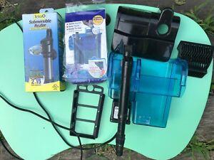 Aquarium Equipment Supplies for 10-20 gallon fish tank: heater, filter, siphon