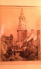 Grant Simon Artist's Proof Lithograph of Christ Church on Strawberry Alley 1758