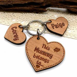Personalised Gifts for him Keyring, Mummy Belongs To Mothers Day, Birthday gift