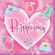 PRINCESS BIRTHDAY PARTY - 16 NAPKINS 33CM - FREE POST IN UK
