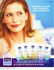 PUBLICITE ADVERTISING 075  2002  NIVEA VISAGE  cosmétiques le masque