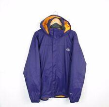 Mens The North Face Hyvent Waterproof Raincoat Dark Purple Hooded Jacket Size L