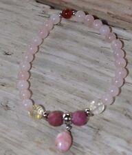 Rose Quartz Love Joy Bracelet Rhodochrosite Citrine Rhodonite Crystal Healing