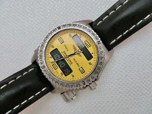 Breitling Emergency E56121.1 Titanium w/Yellow Dial 44 mm - Working