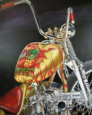 Indian Larry Rat Fink Bobber Signed Ltd Edition Motorcycle Art Print w/COA by JG