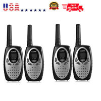 4-Pack 22 Channel Long Range Walkie Talkie Two-Way Radio 3KM Interphone Silver