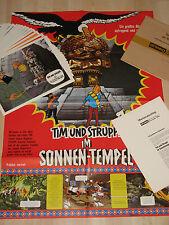 TIM UND STRUPPI IM SONNENTEMPEL 24 FOTOS+PLAKAT Tintin et le temple du soleil