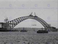 OLD PHOTO ARCHITECTURE SYDNEY HARBOUR BRIDGE CONSTRUCTION POSTER PRINT BB12288B