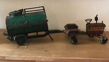Vintage Home Made Indian Tractor and Water Bowser Model Steel Toy Folk Art