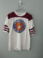 True Vintage 1980's Ringer Neck USMC Marine Corps T-Shirt