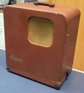 Ampro Stylist 16mm Sound & Silent Film Projector with Case. Works!