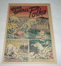 1948 cartoon story ~ POLAR BEARS ~ Bear Barrel Polka, NY Bronx Zoo