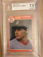 1985 Fleer Roger Clemens Boston Red Sox #155 Baseball Card Near Mint Condition.