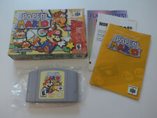 Paper Mario Nintendo 64 N64 Game CIB Complete Tested NTSC US Version ***
