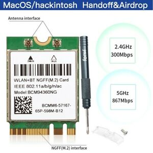 Hackintosh WiFi Plug & Play BCM94360NG M.2 NGFF Card 802.11AC WiFi Bluetooth 4.0