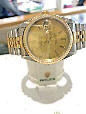 ROLEX Datejust Ref 16233 18K/SS Quick Set Automatic Self-Winding 31 Jewels MINT