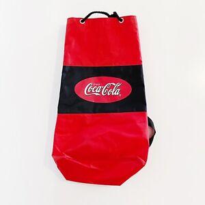 Enjoy Coca-Cola Coke Vintage 90's Drawstring Backpack Bag