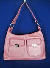 LOVCAT PARIS Pink Textured Leather NEW Large Hobo
