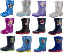 Kids Character Wellington Boots Boys Girls Snow Rain Shoes Wellies Wellys Size