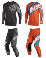 2018 Leatt GPX 4.5 Jersey Pant Gear Combo Adult Pants Motocross Dirt Bike MX