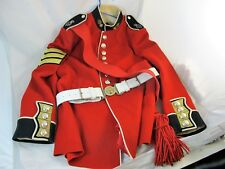 ORIGINAL QUEENS GRENADIER GUARD SERGENTS JACKET & BELT C 1970'S MILITARY.