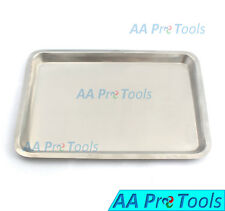 """New Stainless Steel Instrument Tray Medical Dental Tattoo 13 5/8"""" X 9 3/4""""X 5/8"""""""
