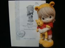 zb Precious Moments-Disney-Girl w/Pooh Ears w/Winnie the Pooh Doll *Very Rare*