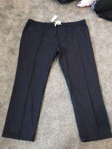 M&s Men Navy Regular Fit Pull On Trousers W48-50 L31 Bnwt Sameday Free P&P