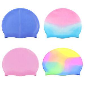 Children Kids Girls Boys Swimming Cap Silicone Latex Swim & Waterproof Hat Cap