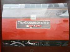 PHOTO  NAMEPLATE - THE GLOUCESTERSHIRE REGIMENT ON CLASS 47 LOCO NO 47569