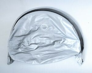 Bugaboo Bee Plus/Bee3/Bee5 Breezy Sun Canopy: Silver Extendable Breathable Hood