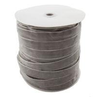Samtband 20mm / 5M Grau Samtborte Schmuckband Schleifenband Zierborte C160
