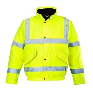 Portwest Hi Vis Bomber Jacket Yellow 3XL 4XL 5XL 6XL