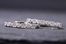 Diamond Hoop 10 Kt White Gold Earrings