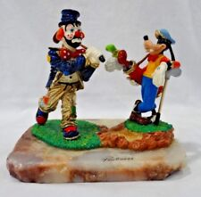 Ron Lee Goofy & Emmett Kelley the Clown Duet Golfing Large Figurine Statue