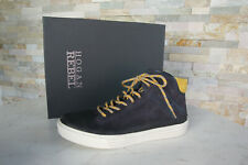 HOGAN 6  40 High Top Sneakers Vintage Schnürschuhe NEU Schuhe blau ehem UVP298 €